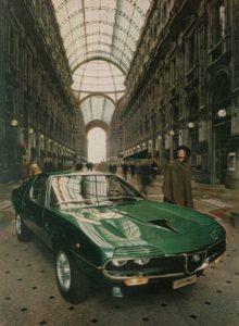 Gandini con Bertone e l'Alfa Romeo Montreal