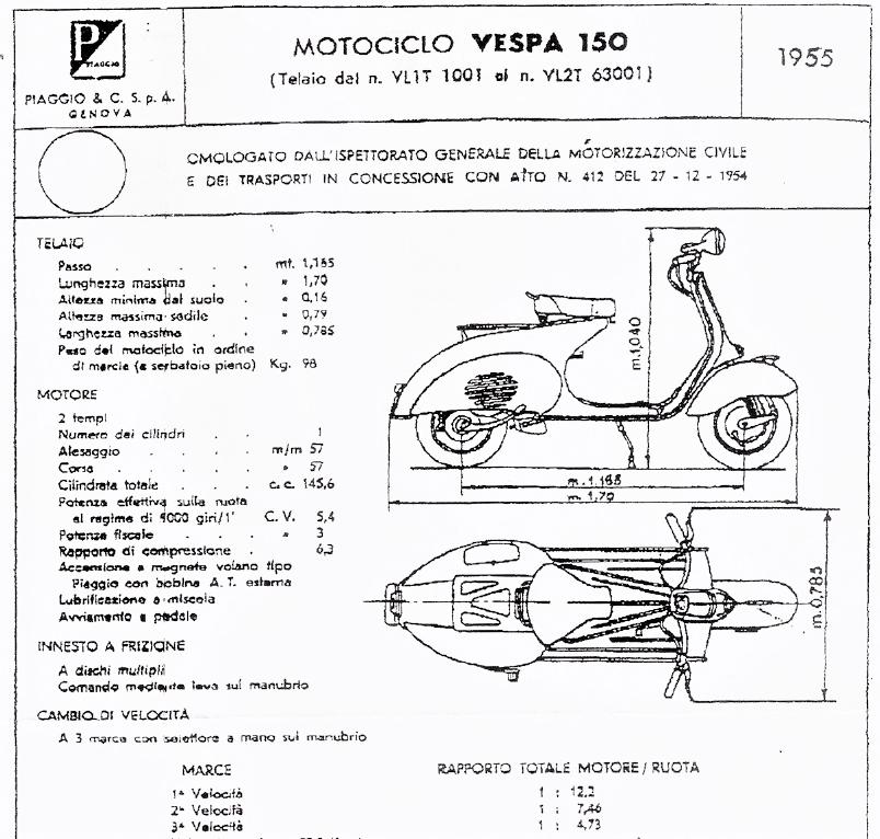 Vespa 150 VL1 sidecar