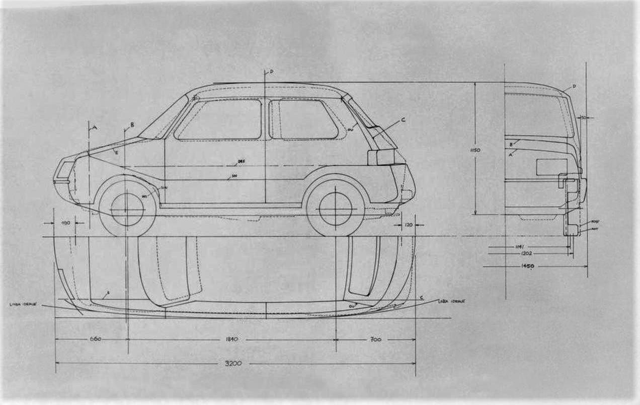 Fiat X126 Softnose e Richard Sapper