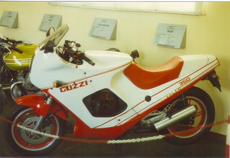 Moto Guzzi V35 Falco, l'unico esemplare presente oggi nel Museo Moto Guzzi.