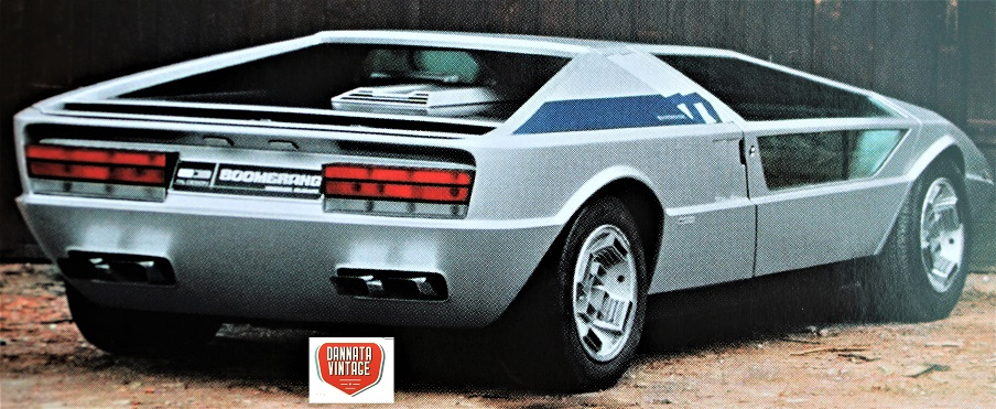 """Maserati Boomerang, Linee """"spigolose"""" ed a cuneo, insieme alla Alfa Romeo Cuneo secondo me fra le più influenti concept del periodo."""