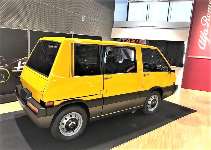 New York Taxi Italdesign il modello esposto in maniera permanente nel museo di Arese.