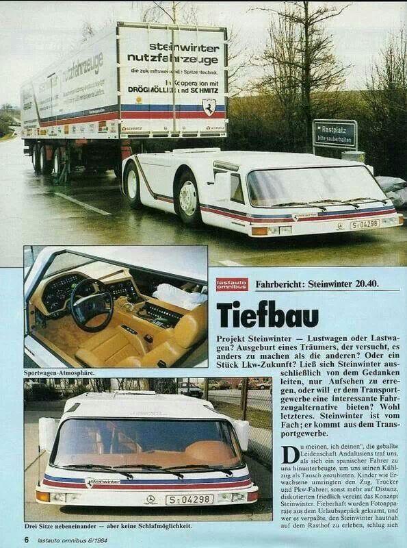 Steinwinter Supercargo in un servizio apparso su una rivista (presumo) tedesca.