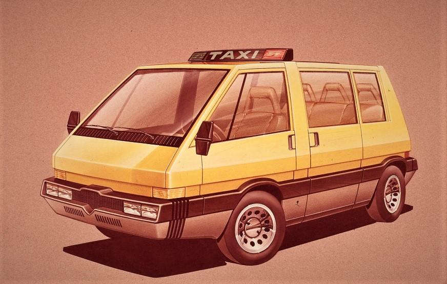 New York Taxi Italdesign in uno dei probabili disegni definitivi del modello disegnato da Giorgetto Giugiaro.