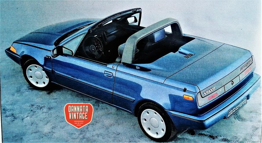 Volvo 480 cabrio, bellissimo anche il colore.
