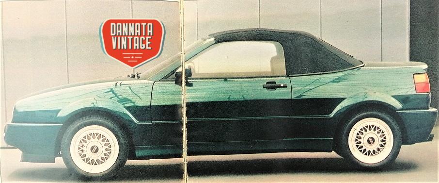 VW Corrado Cabriolet G60 molto molto bello questo suo colore verde.