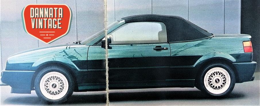 VW Corrado Cabriolet G60, anche i cerchi sembravano poter essere gli stessi della berlina.