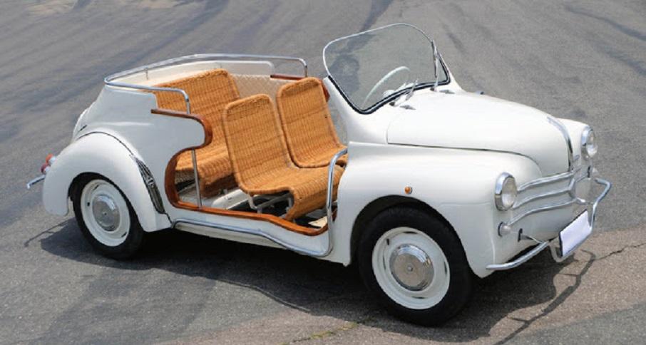Renault 4cv Resort Le bordature in legno furono un vezzo del precedente proprietario non essendo di serie.