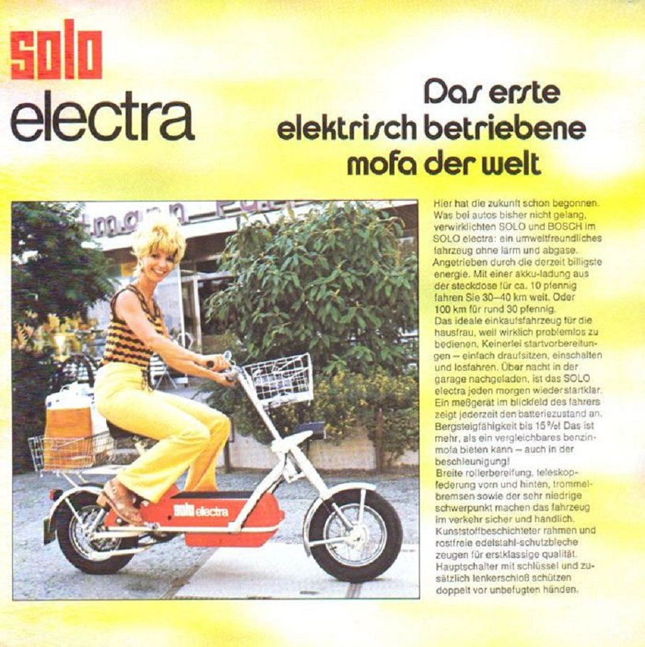 Solo Electra scooter.