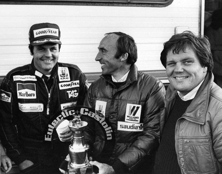 """Frank Williams e Alan Jones che fu uno dei piloti fra i meno facili """"caratterialmente""""."""