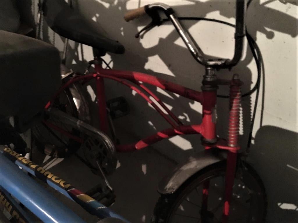 Le biciclette della mia gioventù, Là in fondo al garage di mia sorella.