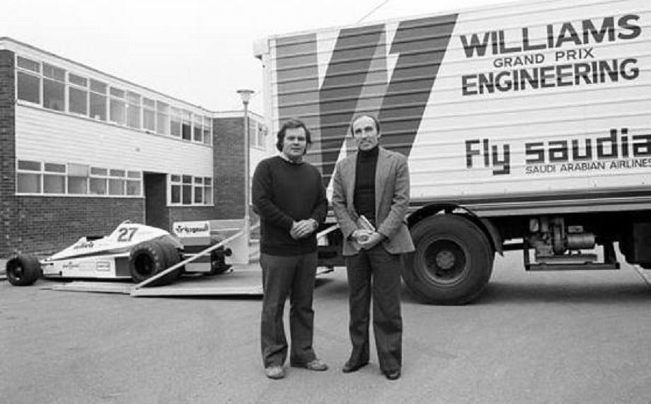 Frank Williams e Patrick Head nel 1978, le cronache ci raccontano che fossero diventati intimi amici