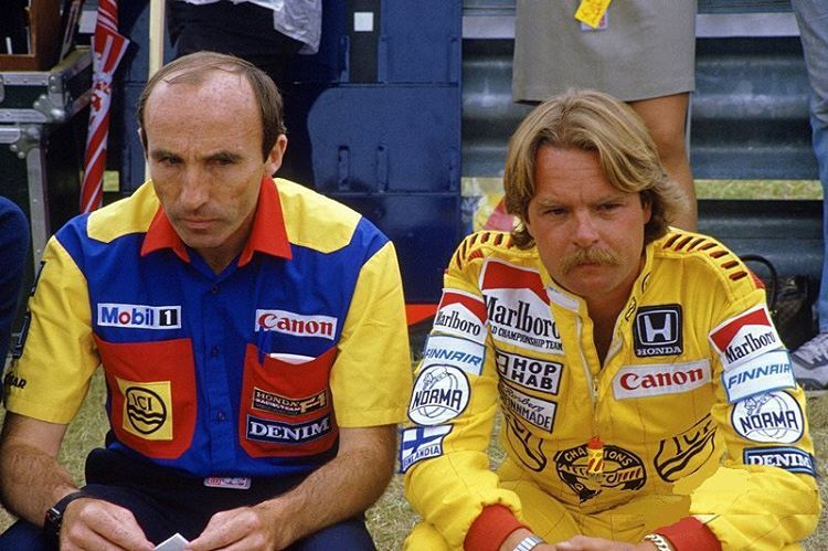 Frank Williams e Keke Rosberg 1985.