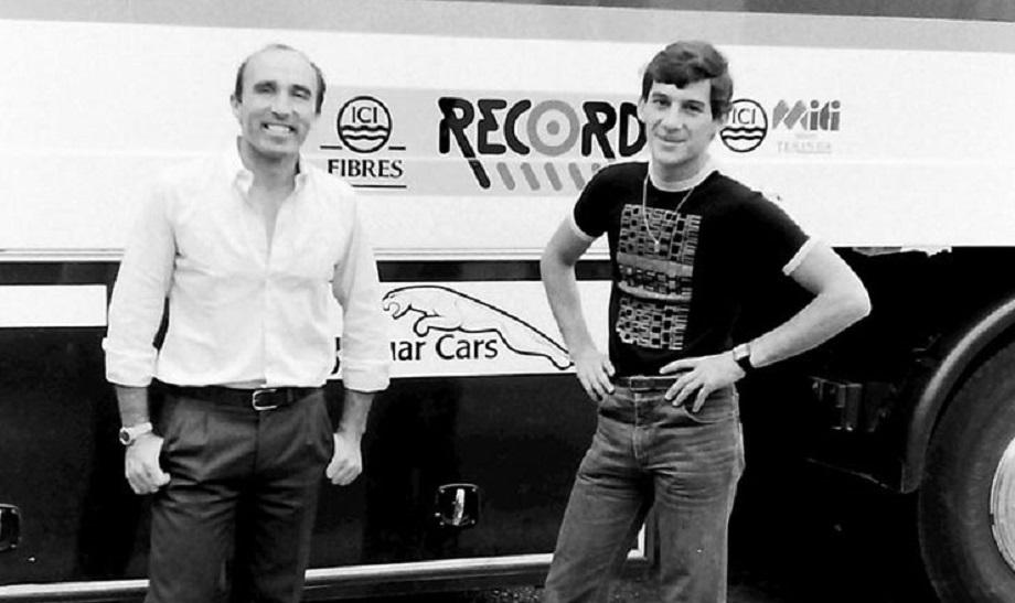 Frank Williams e un giovanissimo Ayrton Senna.