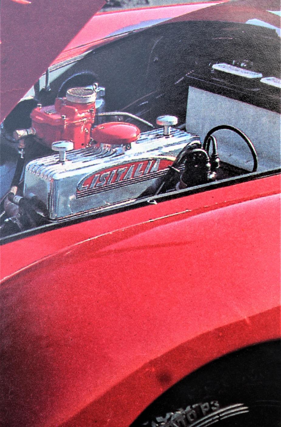 Cisitalia Aerodinamica Savonuzzi Il motore di origine Fiat profondamente modificato.