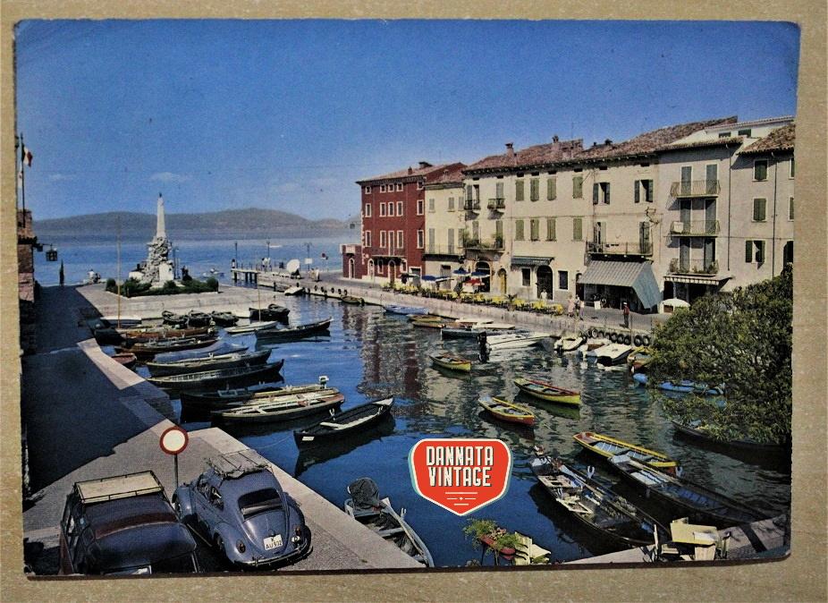 Pubblicità e cartoline vintage Lago di Garda - Lazise - il porto 08 04 1968.