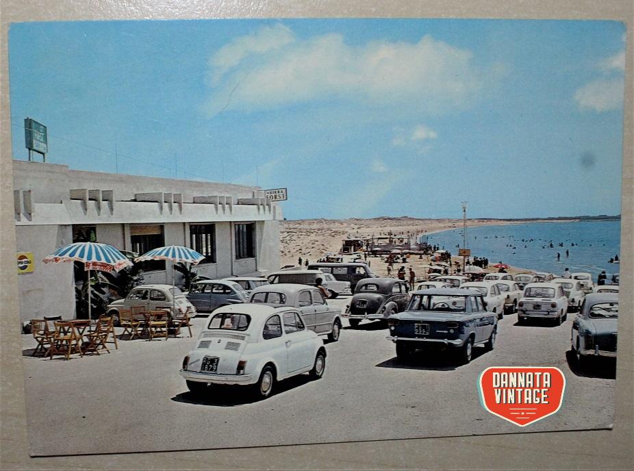 Pubblicità e cartoline vintage Marina di Modica - ristorante la Baia bar - francobollo tolto.