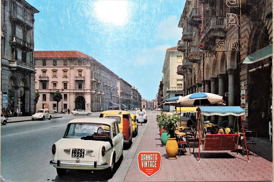 Pubblicità e cartoline vintage Cuneo Corso Nizza - cartolina intonsa.