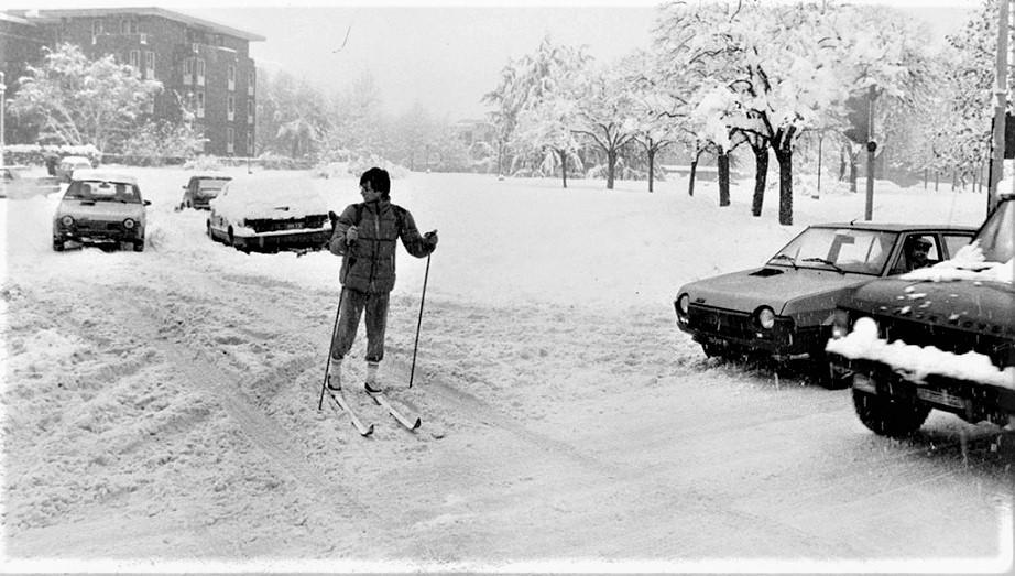 La grande nevicata del 1985 Qualcuno sciarci l'ho visto pure io, ecco ;) ;) magari un pelino esaltato.