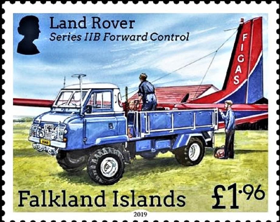 Land Rover Forward Control Gli fu dedicato un francobollo celebrativo.