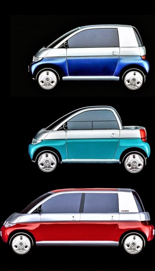 Opel MAXX Una parte delle modalità previste per questa concept.
