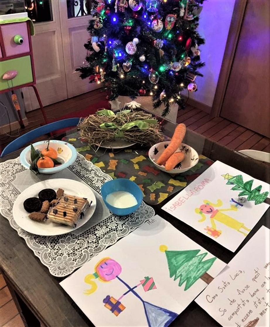Santa Lucia Sul tavolo si lasciava sempre apparecchiato per uno spuntino della Santa.