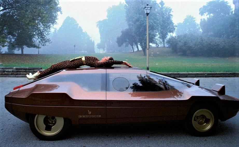 Cerchi in lega vintage Concept Car, Bertone Lancia Sibilo, 1978.
