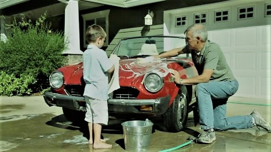 Garage vintage Mi ci vedo fra una quindicina d'anni con un mio nipote.