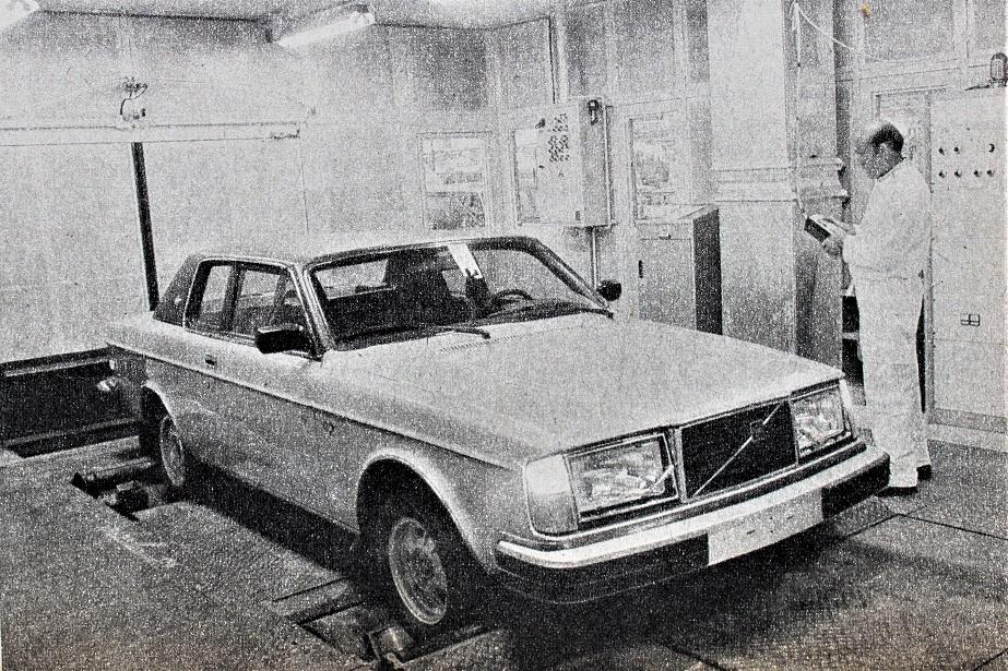 Volvo 262 C Il test fatto sui rulli prima di essere dichiarata pronta per essere venduta.