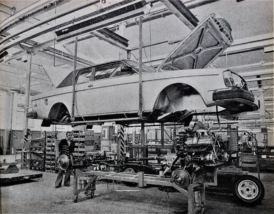 Volvo 262 C La catena di montaggio presso lo stabilimento Bertone.