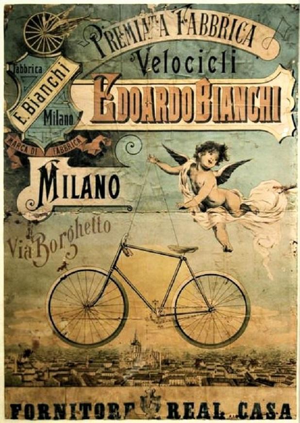 Le biciclette Bianchi Una bellissima pubblicità d'epoca, ne avevo trovata una molto simile, non la presi vista la cifra chiestami.