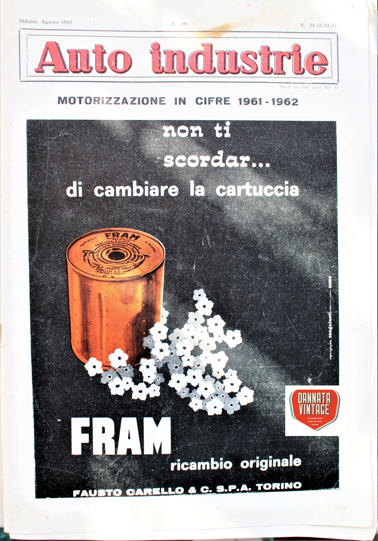 Camion vintage La copertina della datata rivista.