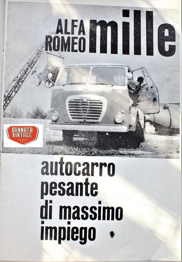 Camion vintage L'immagine in copertina, era da tempo che non mettevo qualcosa sull'Alfa Romeo così....