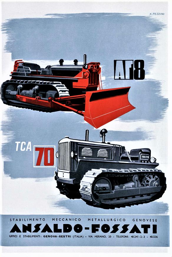 Ansaldo Fossati TCA 70 Ansaldo Fossati TCA 70 in una locandina pubblicitaria del periodo, stampata in concomitanza dell'uscita dei due modelli.