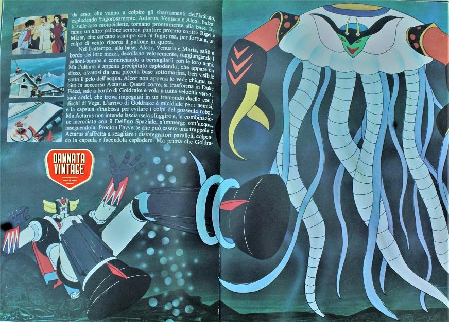Goldrake e Mazinga i colori ed i dettagli delle immagini sono molto nitidi.