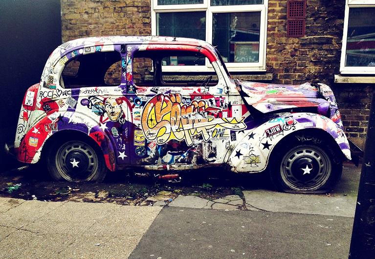 Auto e street art Le 10 migliori auto di street art.