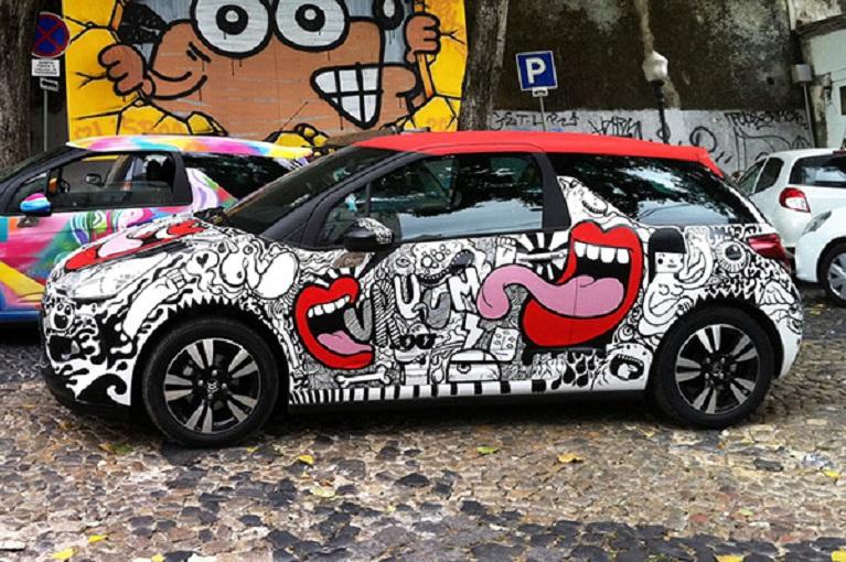 Auto e street art GO ARTE URBANA by Citroen DS3