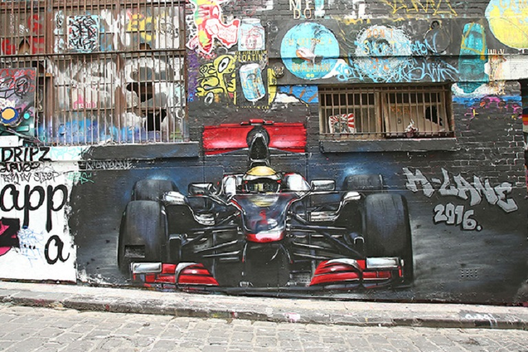 Auto e street art Hosier Lane Street Art.
