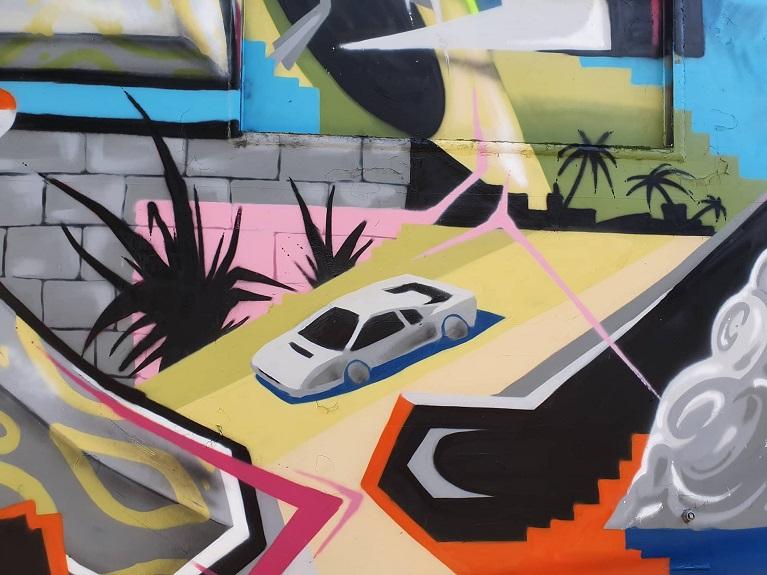 Auto e street art Nel link.