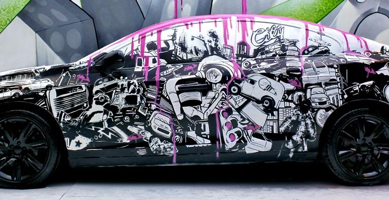 Auto e street art La street art di NEVERCREW aka Christian Rebecchi & Pablo Togni.