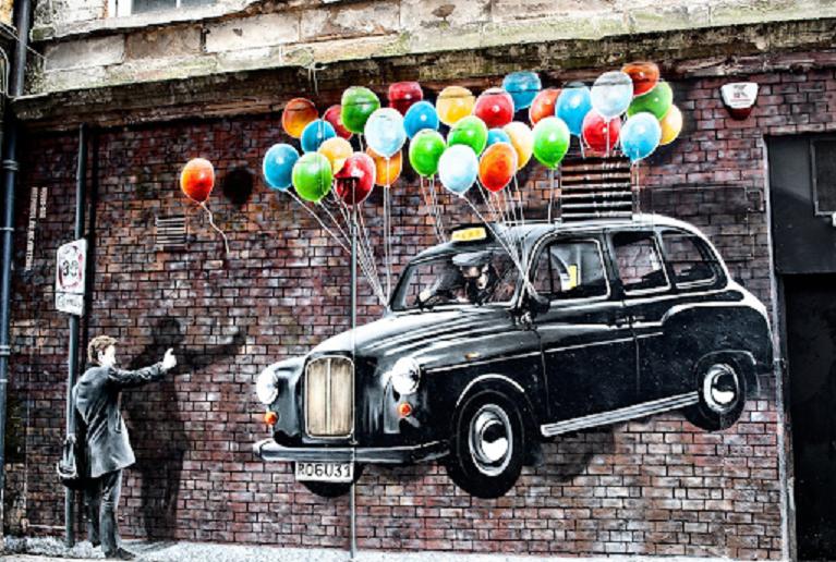 Auto e street art Mitchell Street.