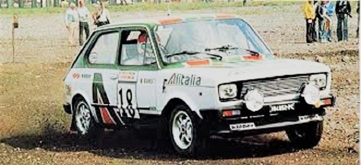 """Team Alitalia Una """"meteora"""" nei rally questa Fiat 127."""