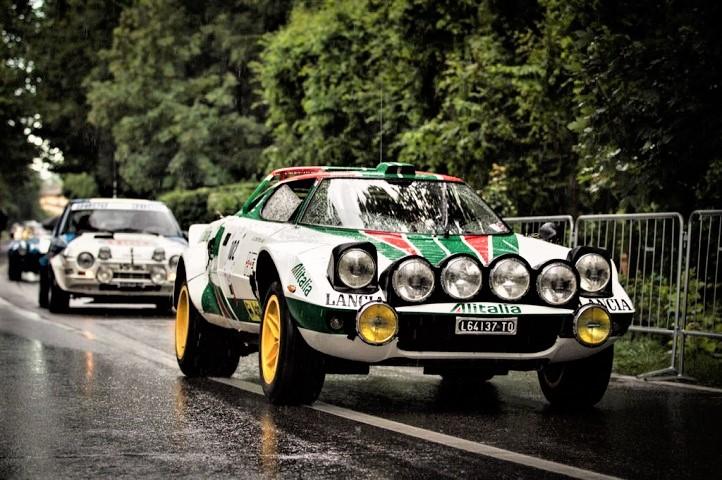 Team Alitalia La Lancia Stratos, la più ricordata fra le auto da rally.