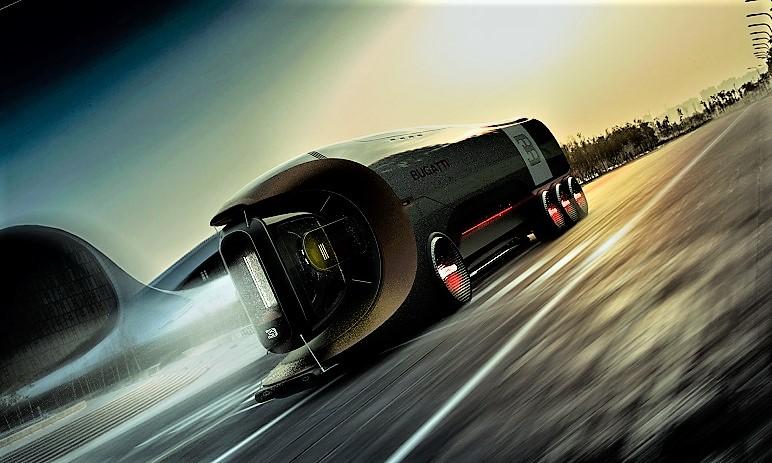 Bugatti Hyper Truck Sicuramente particolare quel suo grosso faro.