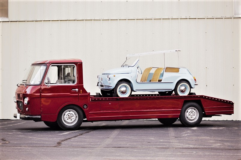 Mezzi commerciali Lancia Superjolly Transporter, l'unico esemplare sopravvissuto.