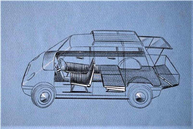 Pio Manzù Autonova Fam Con i sedili completamente abbassati, tranne ovviamente quello per il guidatore, il vano di carico diventa molto capace, anche comodo vista la doppi apertura del vano posteriore.
