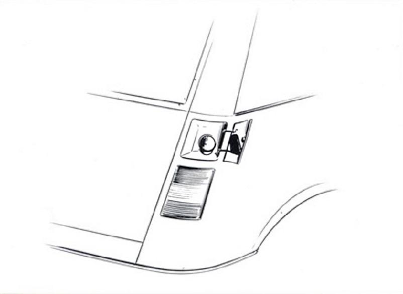 Pio Manzù Autonova Fam Il tappo della benzina era nascosto dietro una piccola apertura.