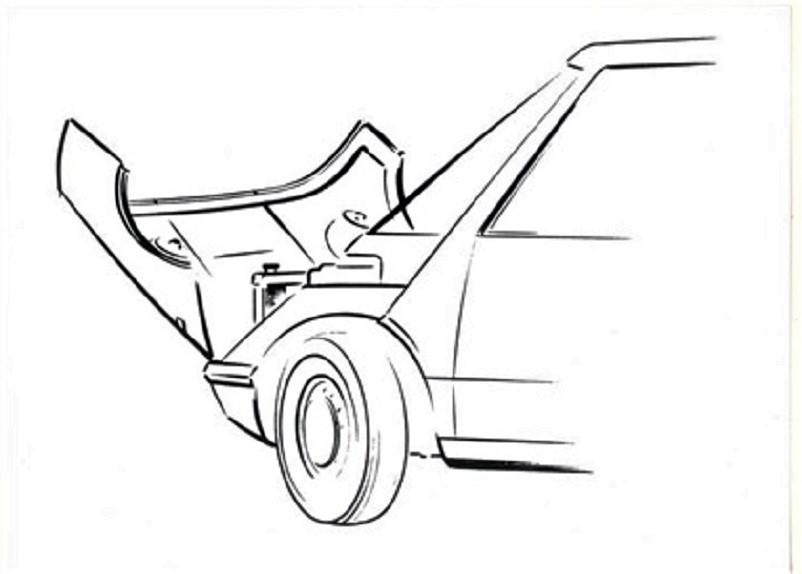 """Pio Manzù Autonova Fam Un cofano anteriore con un'apertura capace di rendere più """"comodo"""" un controllo o il lavoro di un meccanico."""