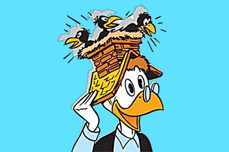 Fumetti, Archimede Pitagorico con il suo cappello da pensatore.