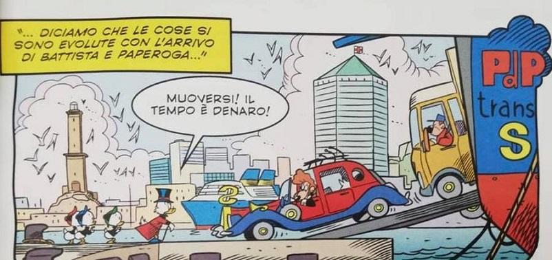 Fumetti, L'auto di Zio Paperone.